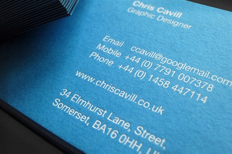 Chris Cavill Design business card