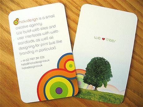 Hicks Design business card
