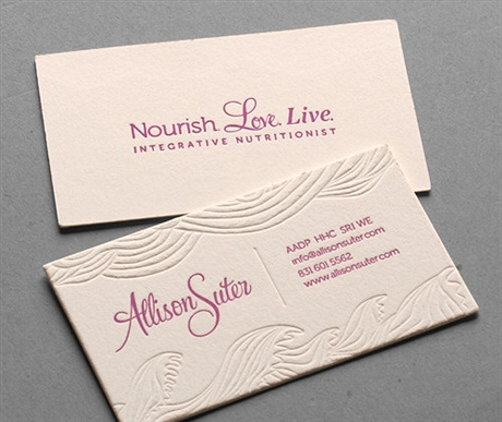 Cotton Printed Card business card