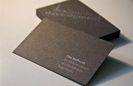 Foil Stamp Design business card