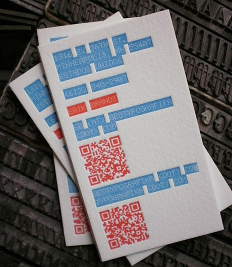 Erik Brandt Letterpress business card