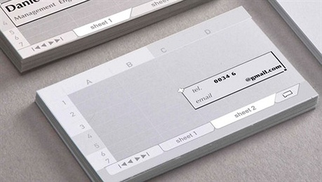 Excel Business Card business card