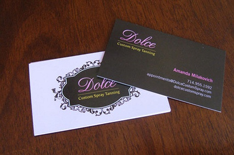 Dolce Custom Spray business card
