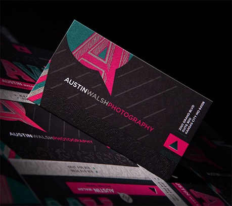 Austin Walsh Photography business card