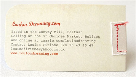 Hand Stitched Business Cards business card