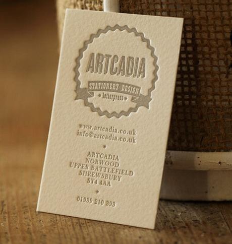 Letterpress Cotton Card business card