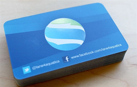 Lane 4 Aquatics business card