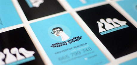 Illustration Style Card business card