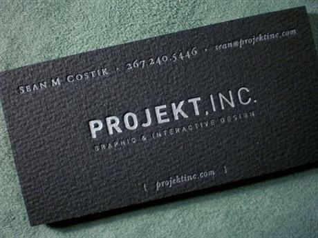 Projekt Inc. Design business card