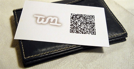 QR Code Business Card business card