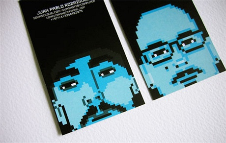 creative,pixel,fancy business card