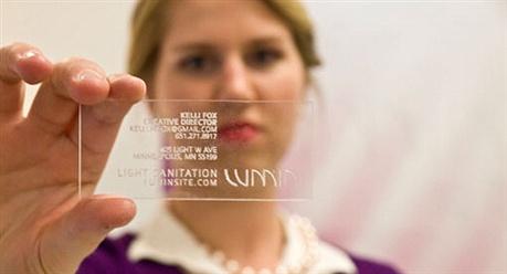 Plexiglass Business Card business card