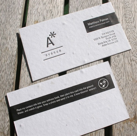 Seed Paper Business Cards business card