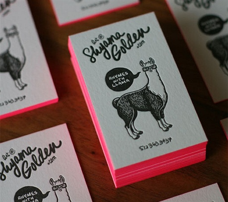 Shyama Letterpress business card