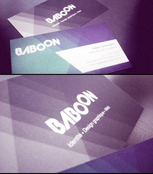 Baboon Creation business card