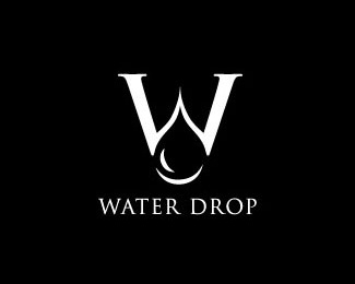 drop,simple,water logo