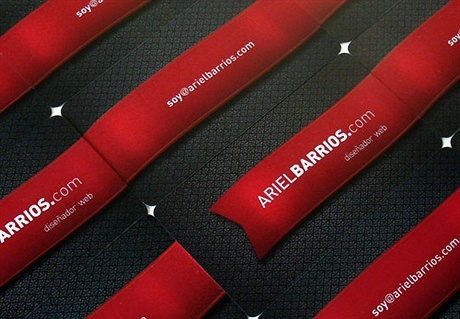 black,creative,red,fancy,contrast color business card