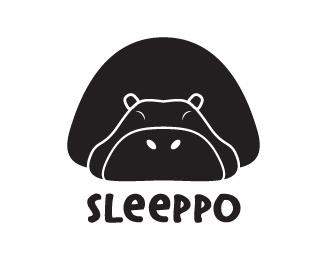 animal,face,hippo logo