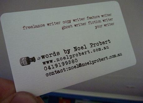 Vintage Typewriter Design business card
