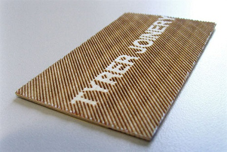 Wooden Business Card business card