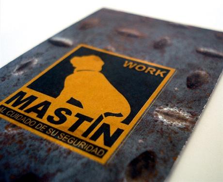 Work Mastin Business Card business card