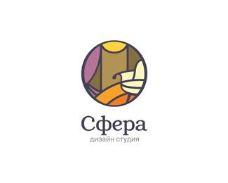 round,complex logo