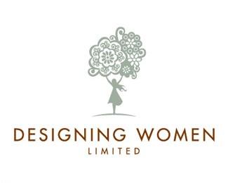 design,flower,woman logo