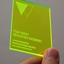 Laser Cut Fluorescent Card