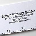 Steven Whitely Builder Letterpress Cards