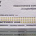 Letterpress Business Card F256