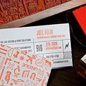 Letterpress Rubber Stamped Cards