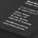Black Card Design