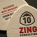 Zing Consulting Letterpress Card