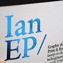 Ian EP - Foiled Metallic Blue Card