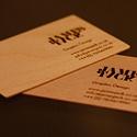 Laser Etched Wooden Card
