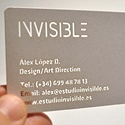 ' Invisible' Business Card