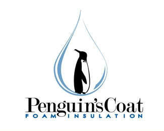 penguin,water,illustrated logo