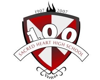 Sachred Heart High School 100 Years logo