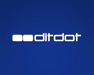 blue,design,development,studio,ditdot logo