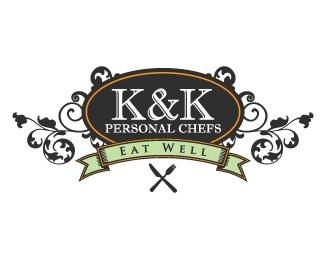 food,k,catering,k& logo