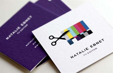 TV Editing Identity Design business card