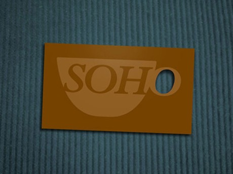 Soho Cafe & Bakery business card