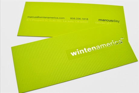 Slim Green business card