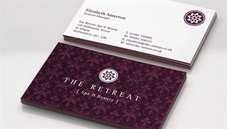 Spa Identity Card business card