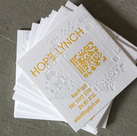 Square Letterpress Card business card