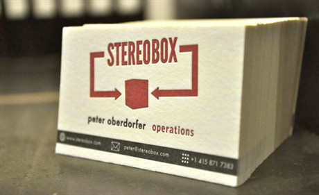 Stereo Box Letterpress business card