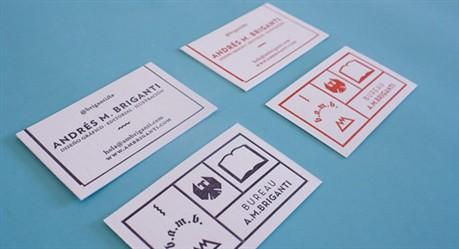 Unique Letterpress Identity business card