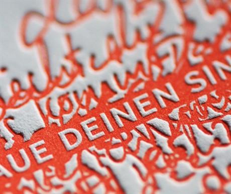 Unique Letterpress Design business card