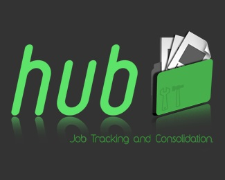 software,hub,job traking logo