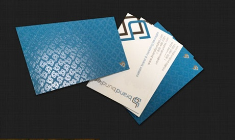 Blue Spot UV business card